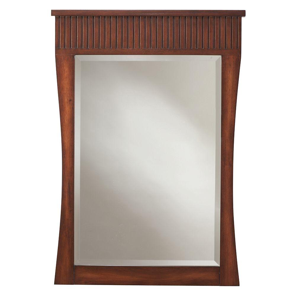 Home Decorators Collection Fuji 24 in. x 34 in. Mirror in Old Walnut