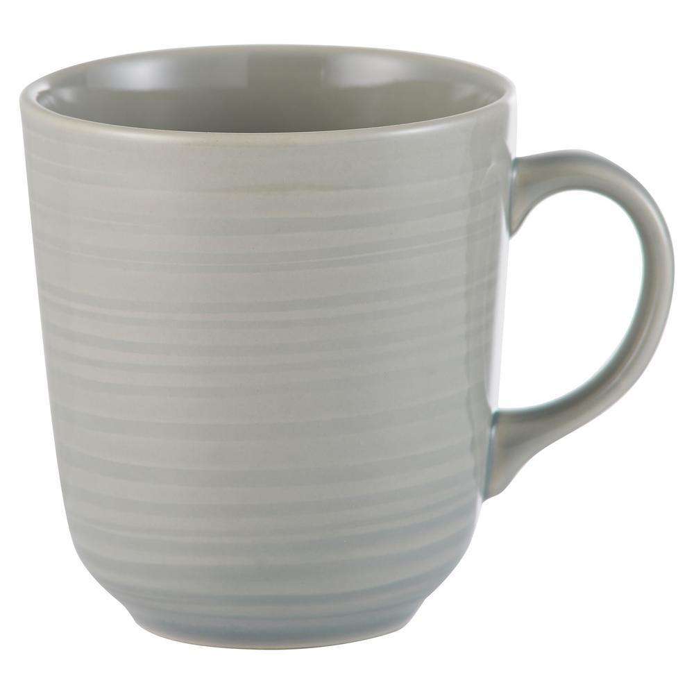 William Mason 13.5 oz. 4-Piece Ceramic  Grey Mug Set