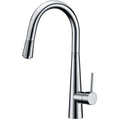 Luxurious Single-Handle Pull-Down Sprayer Kitchen Faucet in Brushed Nickel Finish
