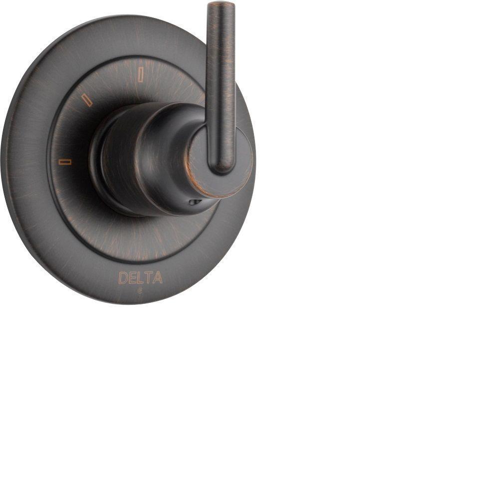 Trinsic 1-Handle Wall-Mount 3-Function Diverter Valve Trim Kit in Venetian Bronze