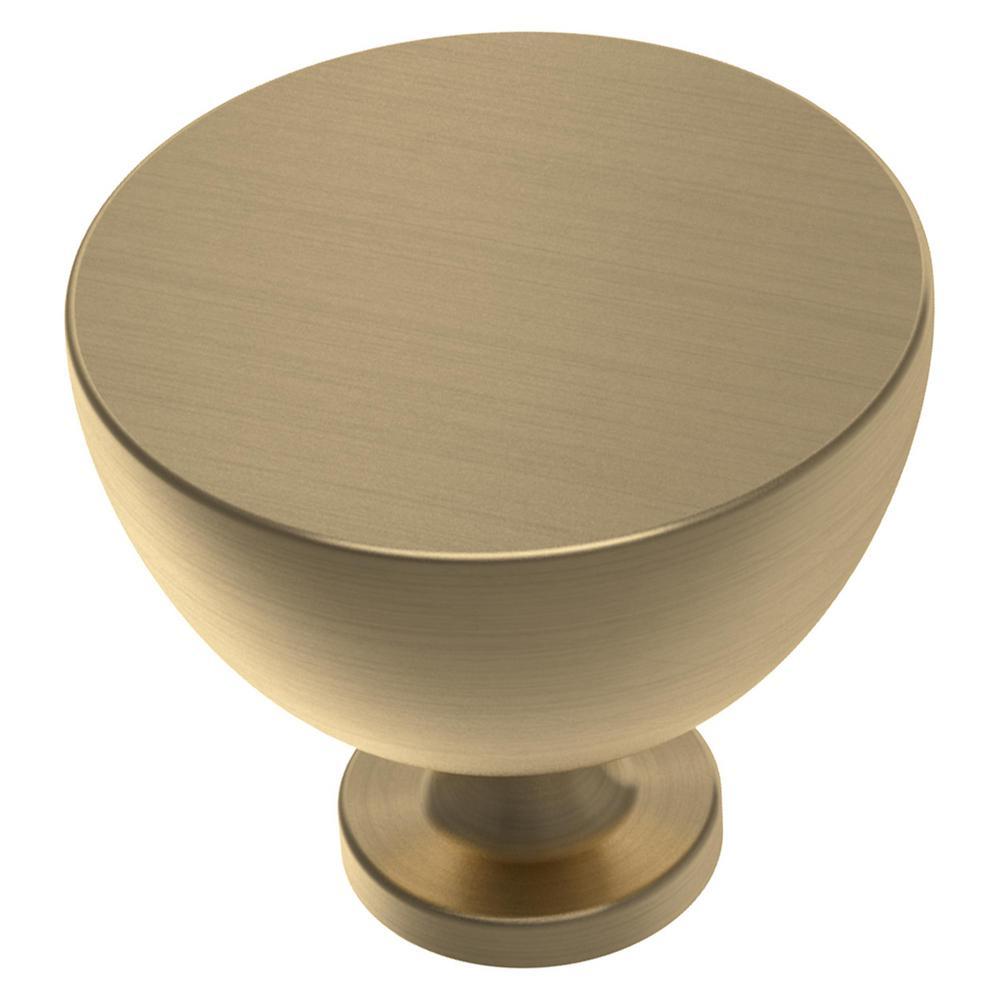 Izak 1-1/2 in. (38 mm) Champagne Bronze Cabinet Knob (10-Pack)