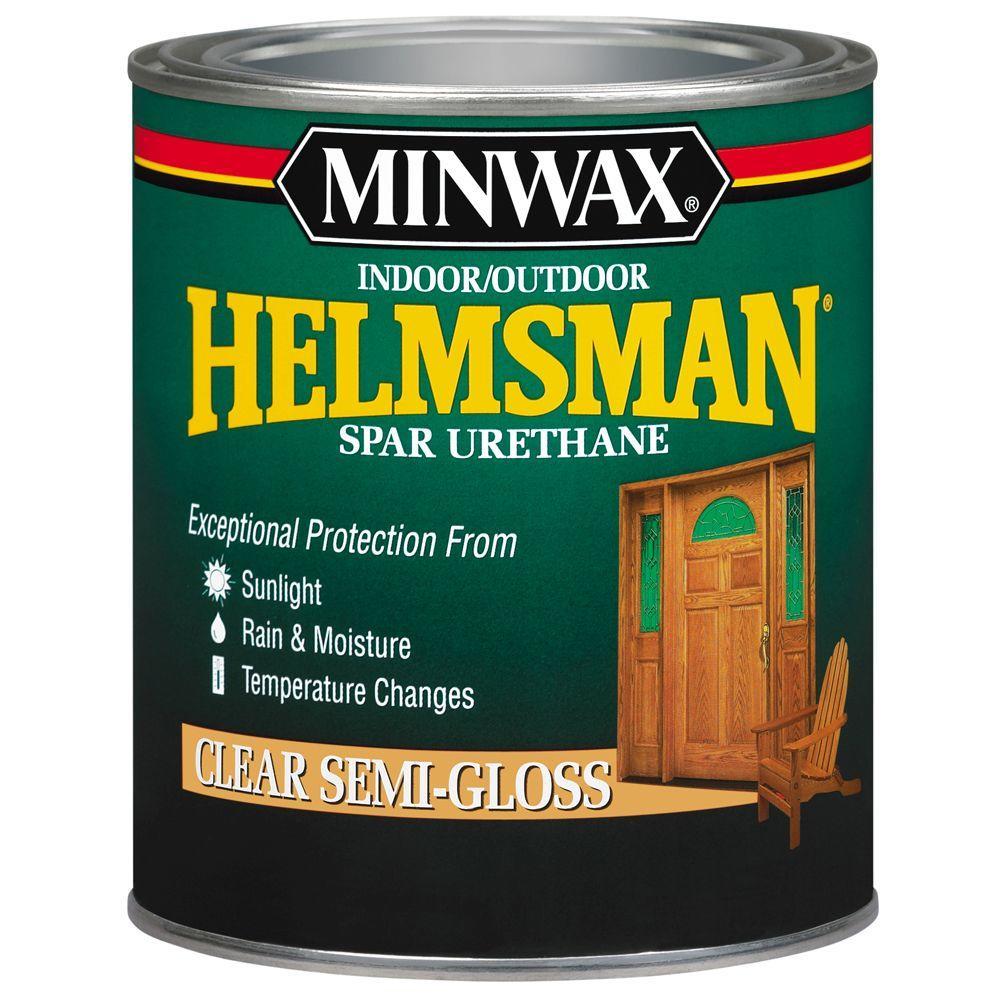 1 qt. Clear Semi-Gloss Helmsman Indoor/Outdoor Spar Urethane