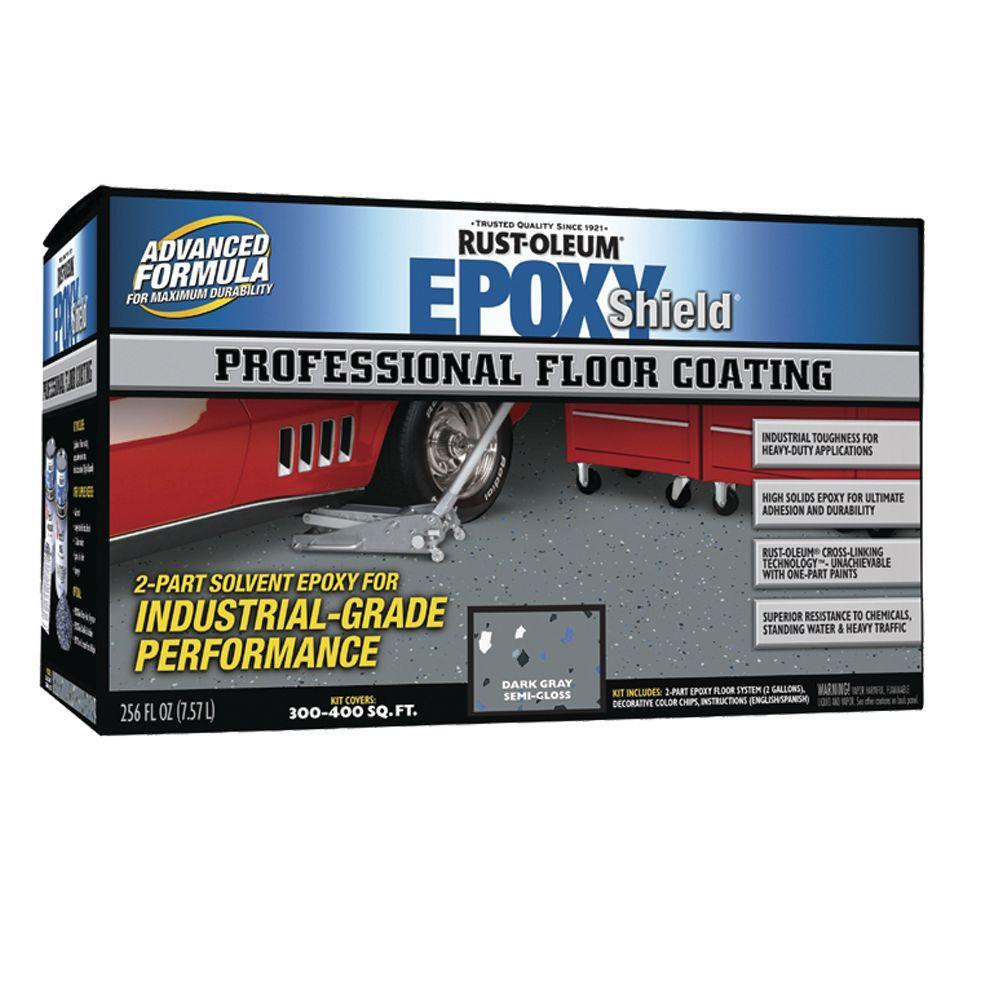 Rust-Oleum Epoxy Shield Professional Semi-gloss Dark Gray Floor Coating Kit-DISCONTINUED