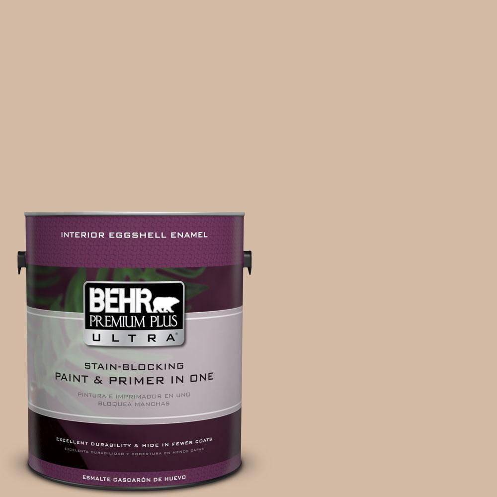 BEHR Premium Plus Ultra 1-gal. #290E-3 Classic Taupe Eggshell Enamel Interior Paint