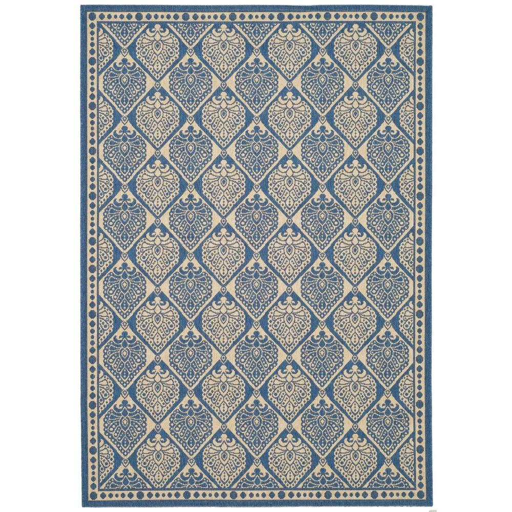 Courtyard Blue/Ivory 5 ft. 3 in. x 7 ft. 7 in.