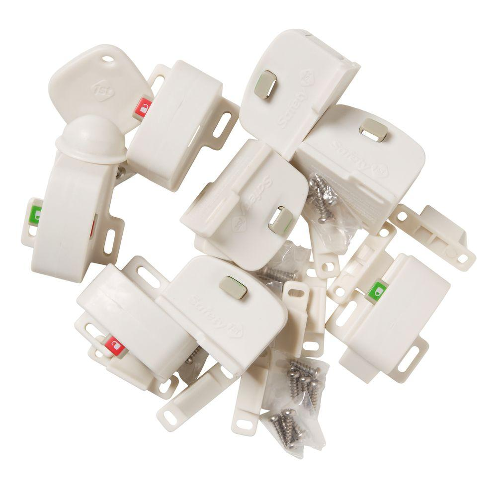 Latches locks child safety the home depot magnetic locking system complete 9 piece rubansaba