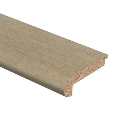 Strand Woven Bamboo Driftwood 3/8 in. Thick x 2-3/4 in. Wide x 94 in. Length Hardwood Stair Nose Molding Flush