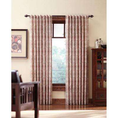 Semi-Opaque Spice Filigree Back Tab Curtain (Price Varies by Size)