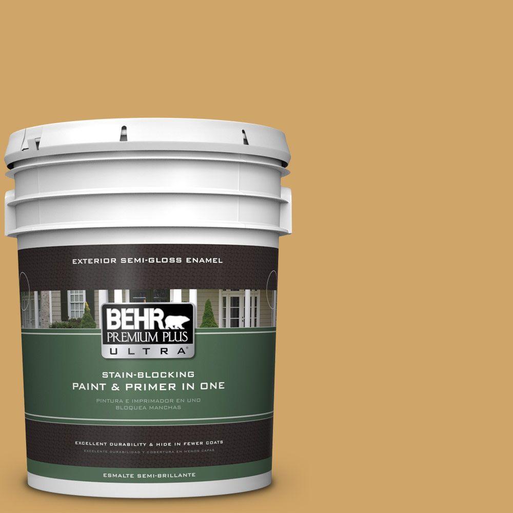 BEHR Premium Plus Ultra 5-gal. #330D-5 Campground Semi-Gloss Enamel Exterior Paint