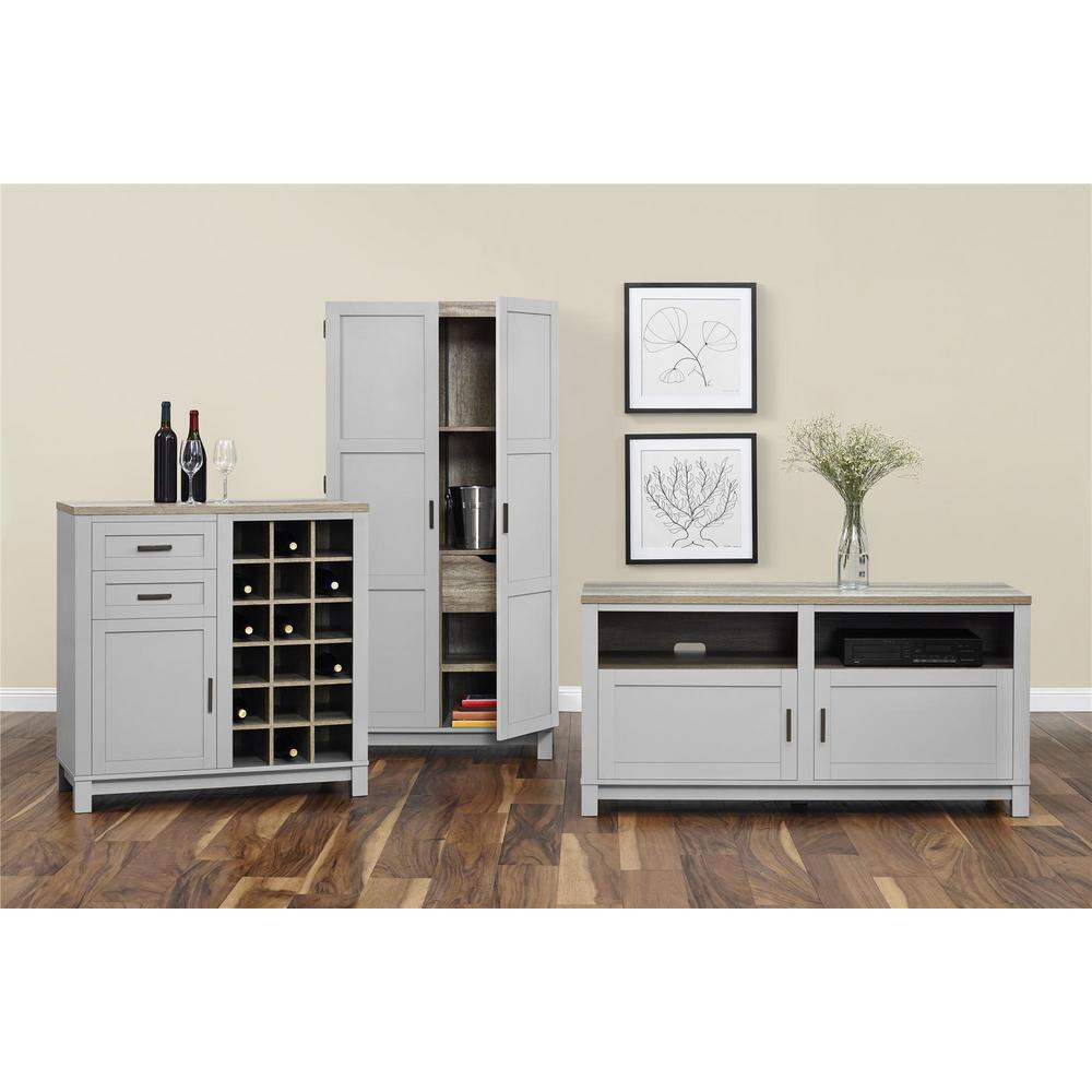 living room stands. Gray Sonoma Oak TV Stand  Rustic Stands Living Room Furniture The Home Depot