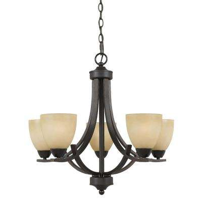 Galeri 5-Light Bronze Chandelier