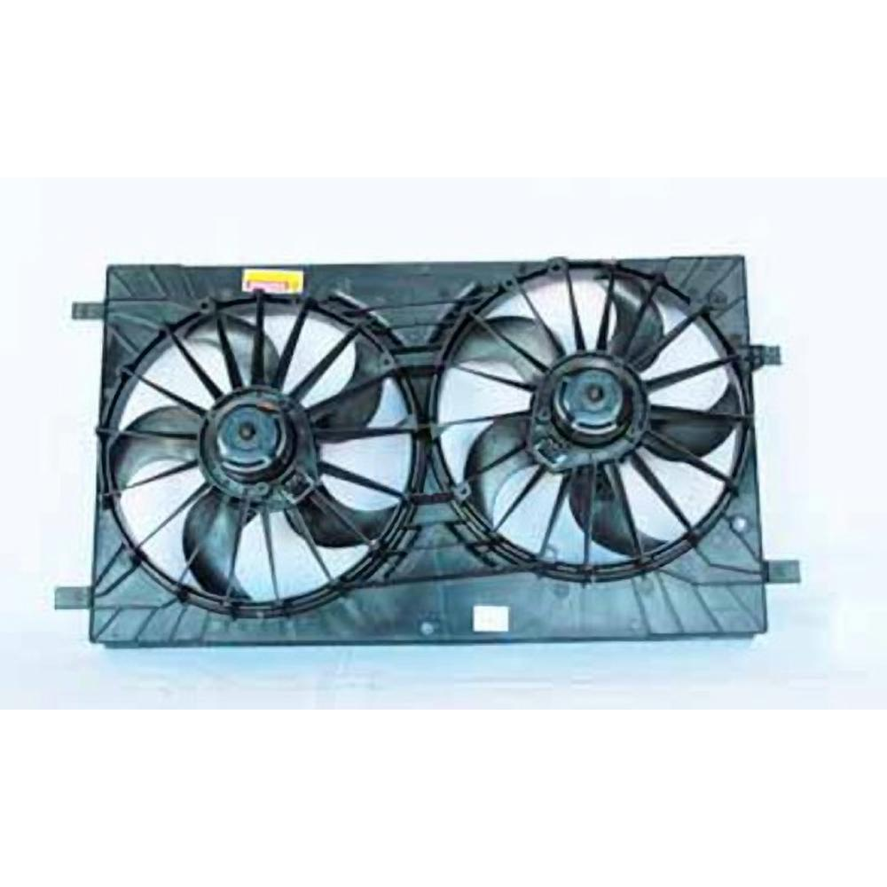 For Chrysler Dodge Jeep Dual Radiator and Condenser Fan Assembly TYC 621570