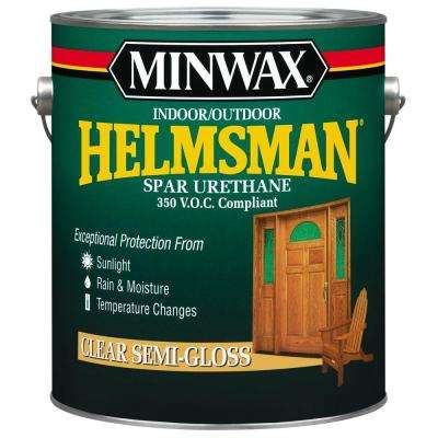 1 gal. Clear Semi-Gloss Helmsman Indoor/Outdoor Spar Urethane (2-Pack)
