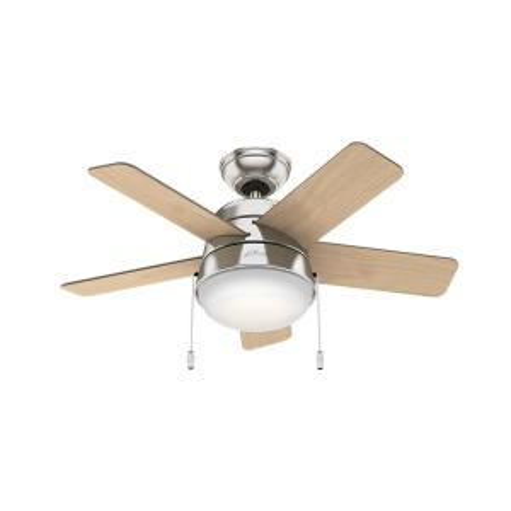 Hunter Tarrant 36 inch LED Indoor Brushed Nickel Ceiling Fan by Hunter