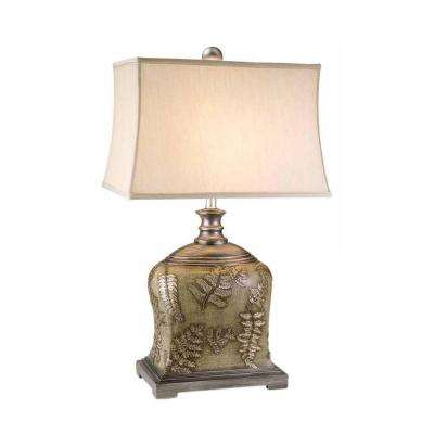 29 in. Antique Brass Fern Collection Lamp