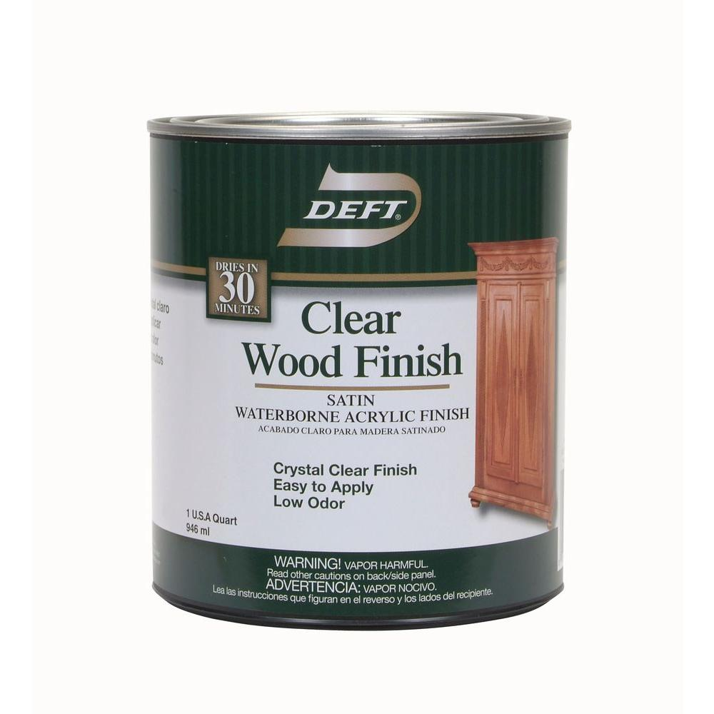 1 qt. Semi-Gloss Interior Clear Wood Finish Waterborne Acrylic