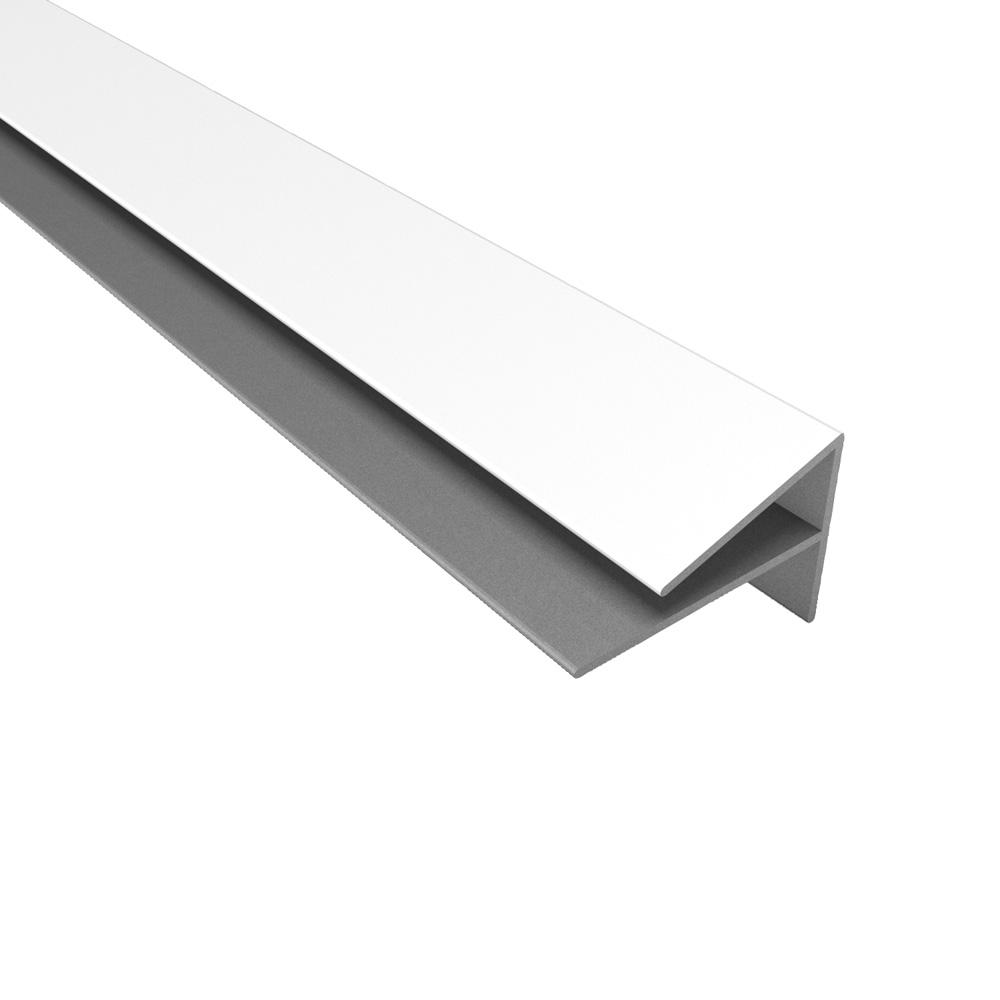 4 ft. Large Profile Outside Corner Trim in Gloss White