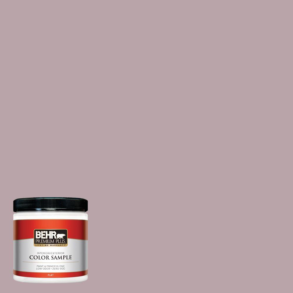 BEHR Premium Plus 8 oz. #100F-4 Dark Lilac Interior/Exterior Paint Sample