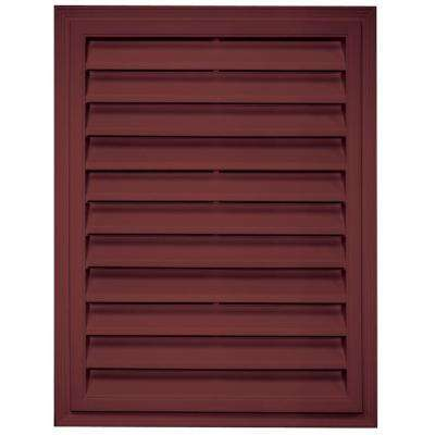 18 in. x 24 in. Rectangle Gable Vent in Wineberry