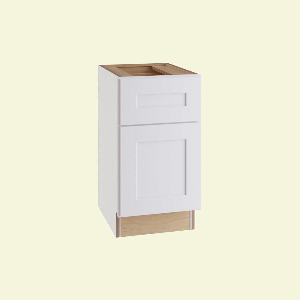 Home Decorators Collection Newport Assembled 49 in. x 49.49 in. x 49 in.  Desk Height Base Cabinet with 49 Door Right Hand in Pacific White