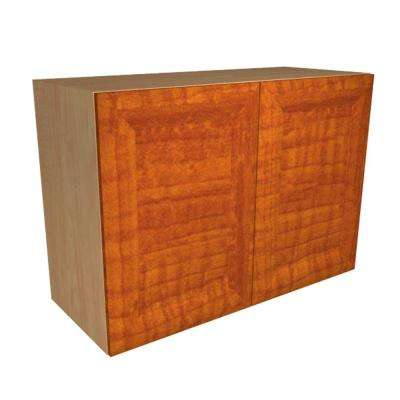 Ready to Assemble 36x21x12 in. Dolomiti Wall Cabinet with 2 Soft Close Doors in Cognac