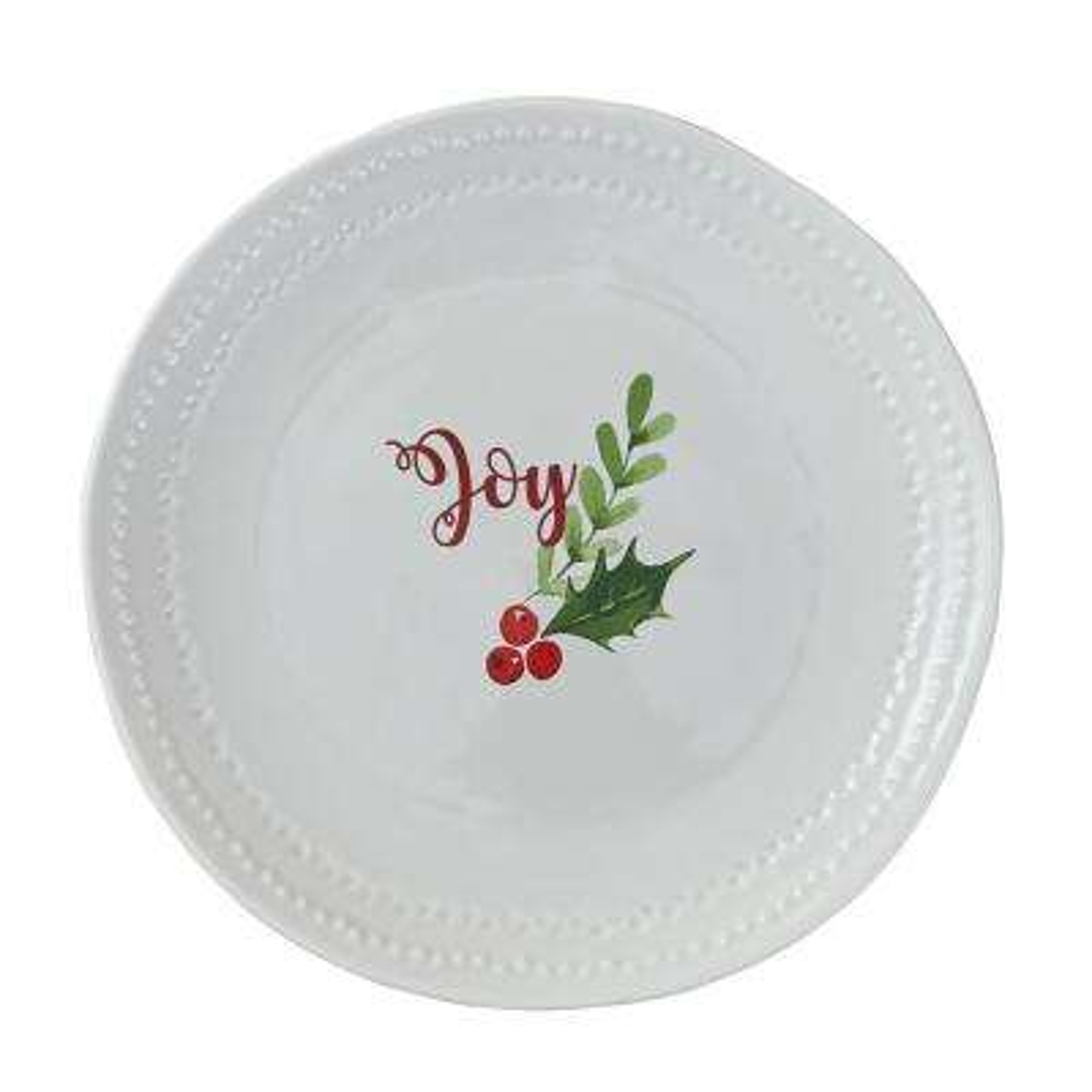 Joy White Plate (Set of 4)