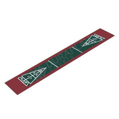 7 ft. 10 in. x 47 ft. 2 in. Hunter Green and Burgundy Single Shuffleboard Kit
