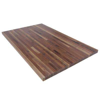 4 ft. L x 2 ft. 6 in. D x 1.5 in. T Butcher Block Countertop in Finished Walnut