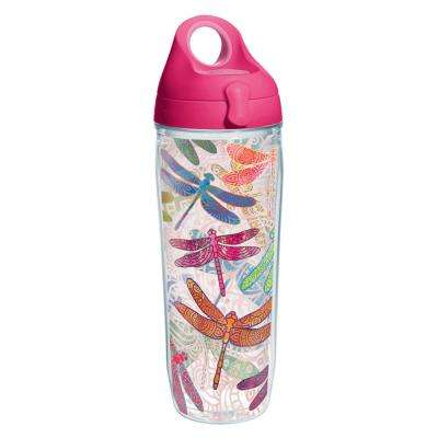 Dragonfly Mandala 24 oz. Clear Water Bottle
