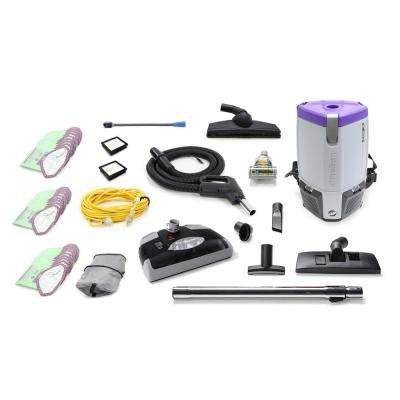 Loaded Super Coach Pro 6 Qt. Commercial Backpack Vacuum Cleaner with Power nozzle