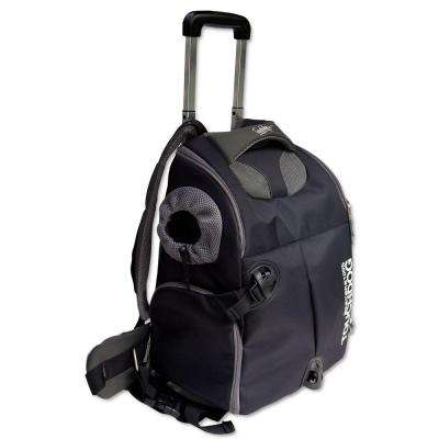 Black Wuffle Duffle Wheeled Backpack Pet Carrier