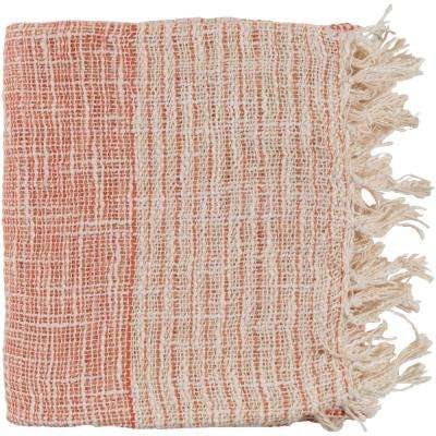 Erindale Burnt Orange Cotton Blend Throw