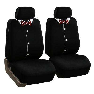 Fabric 23 in. x 21 in. x 1 in. Bow Front Set Seat Covers