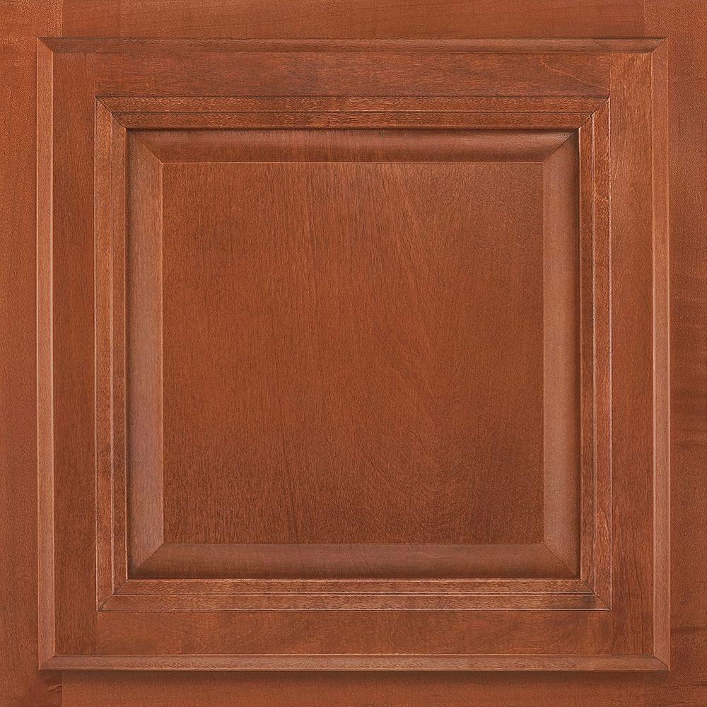 13x12-7/8 in. Cabinet Door Sample in Portland Maple Cognac