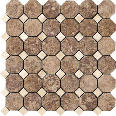 Campione Andretti 12 in. x 12 in. x 8.7 mm Porcelain Mosaic Floor and Wall Tile