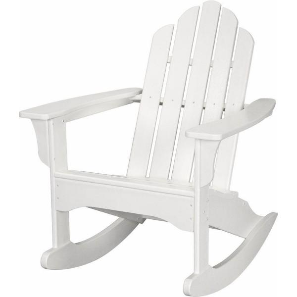 White All-Weather Adirondack Rocking Patio Chair