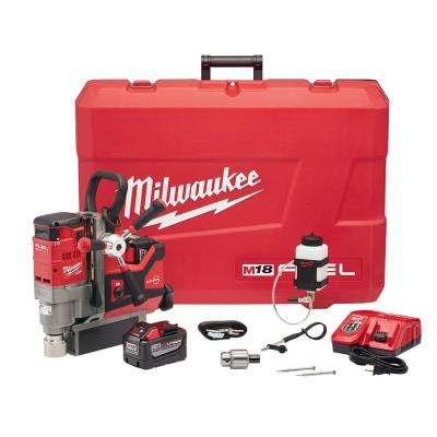 M18 FUEL 18-Volt Lithium-Ion Brushless Cordless 1-1/2 in. Lineman Magnetic Drill High Demand Kit W/(2) 9.0Ah Batteries