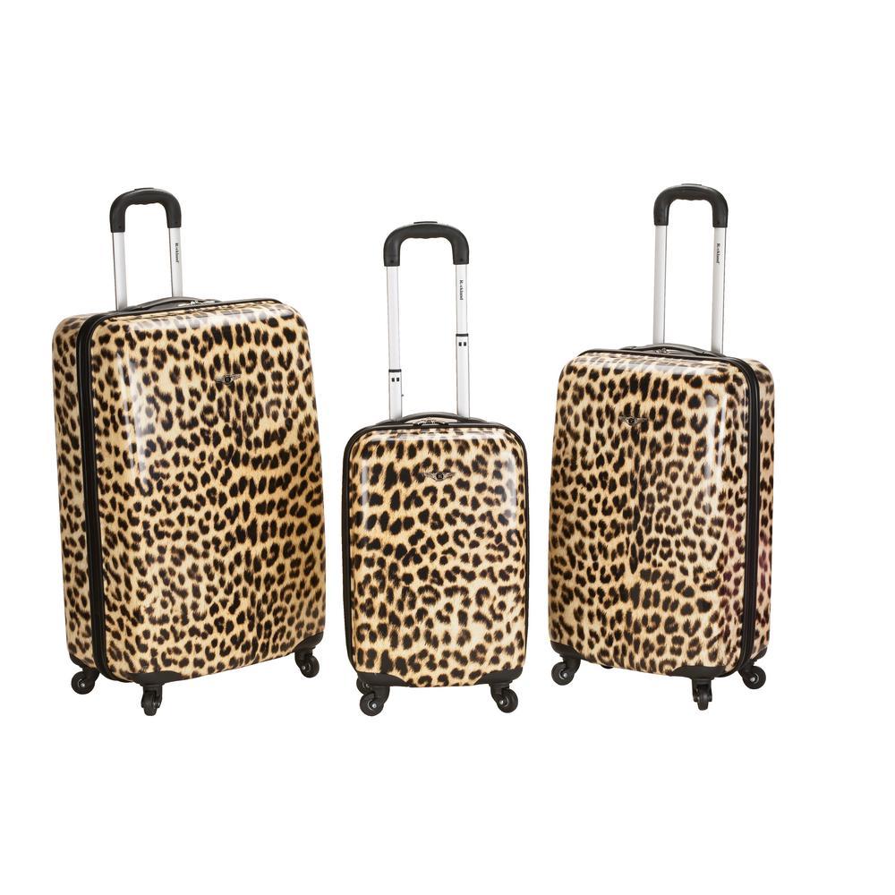 Rockland Leopard 3-Piece Hardside Luggage Set, Leopard