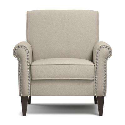 Jean Taupe Linen Arm Chair