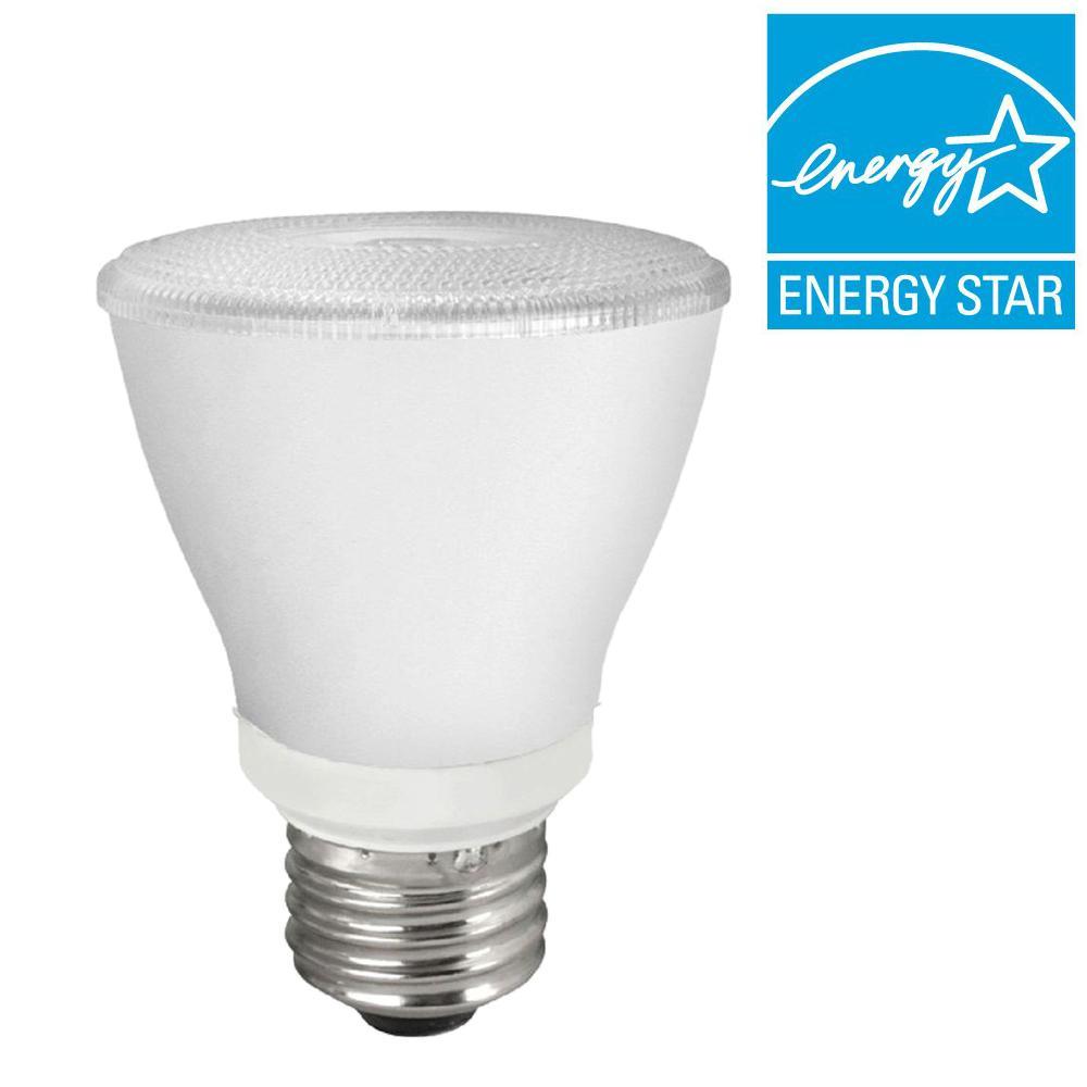 TCP 50W Equivalent Daylight (5000K) Reflector PAR20 Dimmable LED Flood Light Bulb