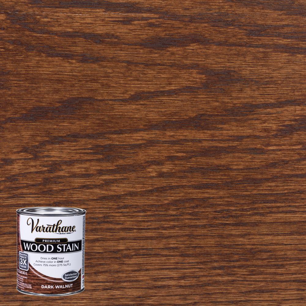 1 qt. Dark Walnut Premium Fast Dry Interior Wood Stain
