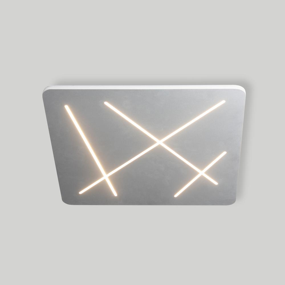 Vonn lighting tureis collection 18 in silver nickel led modern square ceiling light vmcf41200al the home depot