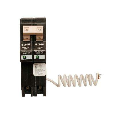 CH 50 Amp 2-Pole Circuit Breaker with Surge Protection