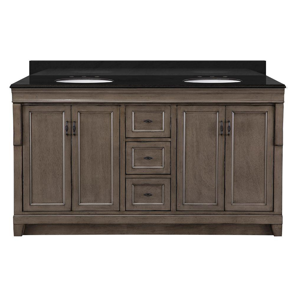 Foremost naples 61 in w x 22 in d vanity in distressed for Foremost home