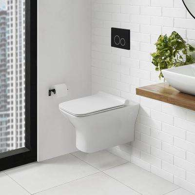 Carre 0.8/1.28 GPF Dual Flush Elongated Wall Hung Toilet Bowl Only in White