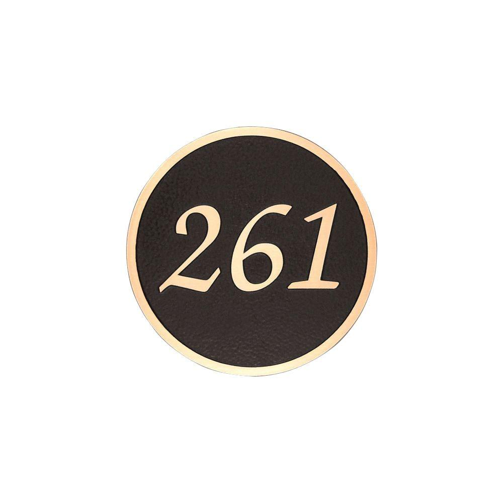 Michael Healy 15 in. Traditional Circle Authentic Solid Bronze Address Plaque-DISCONTINUED