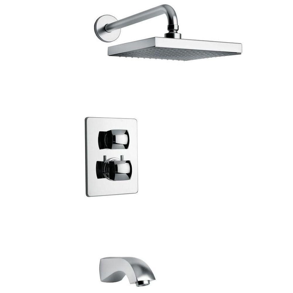 LaToscana Lady 2-Handle Tub and Shower Faucet in Chrome