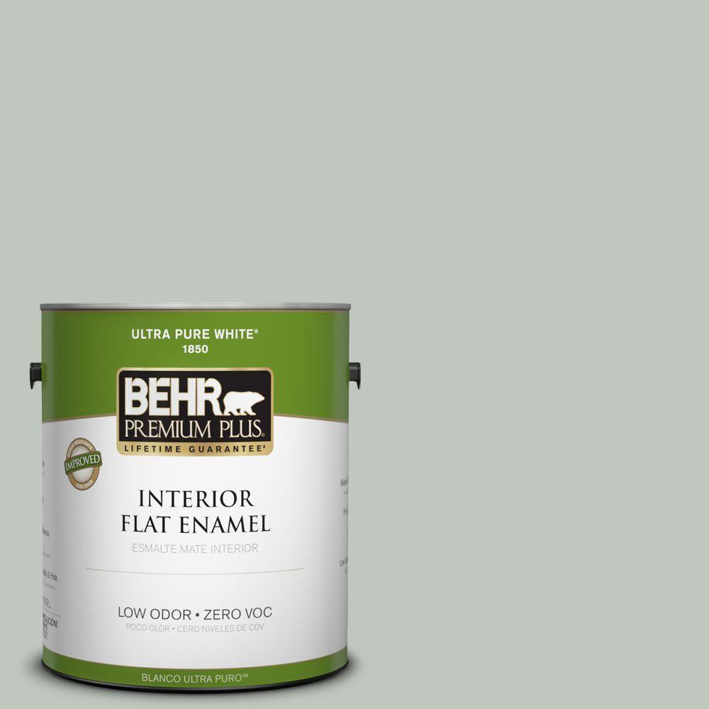BEHR Premium Plus 1-gal. #700E-3 Contemplation Zero VOC Flat Enamel Interior Paint-DISCONTINUED