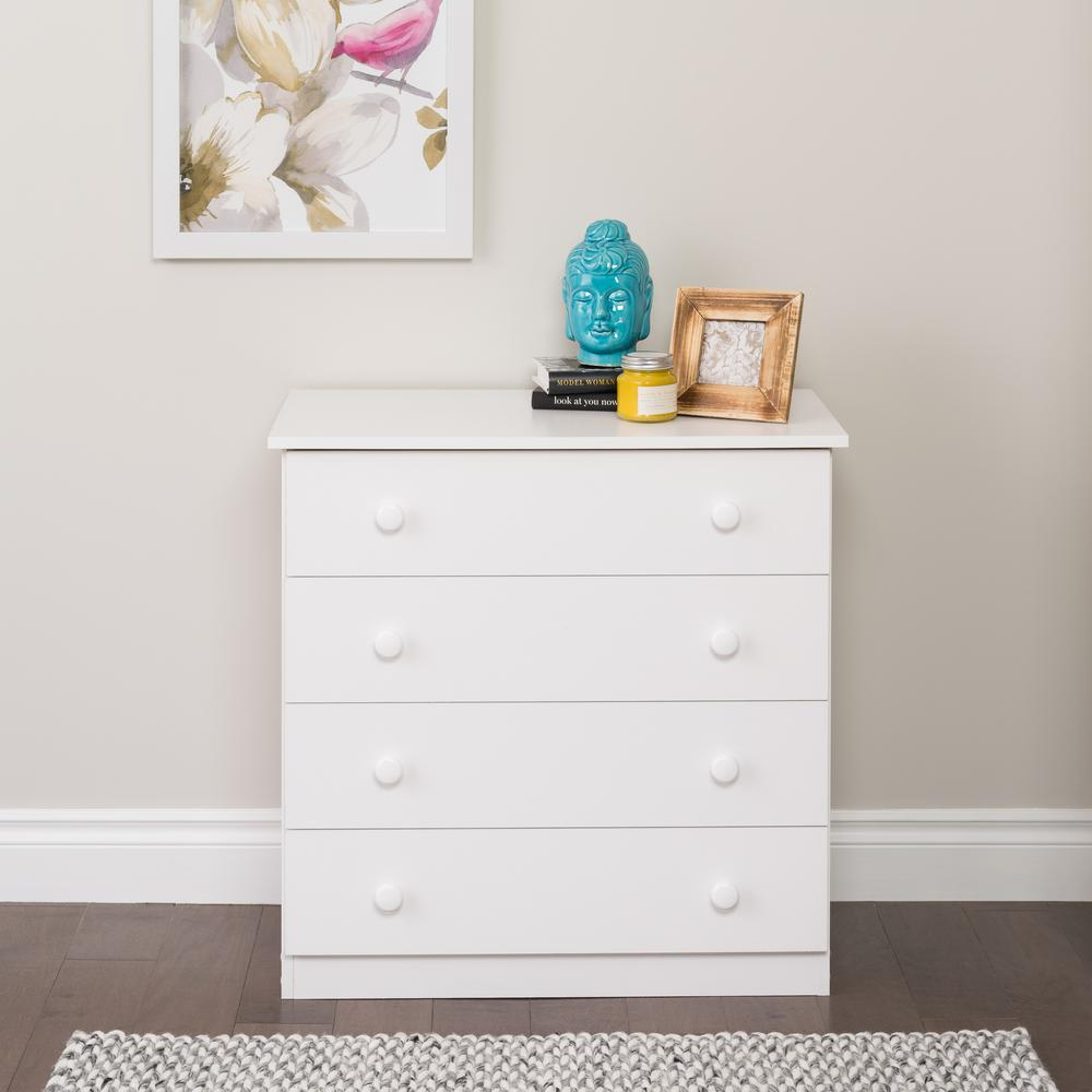 Prepac Edenvale 4-Drawer White Chest