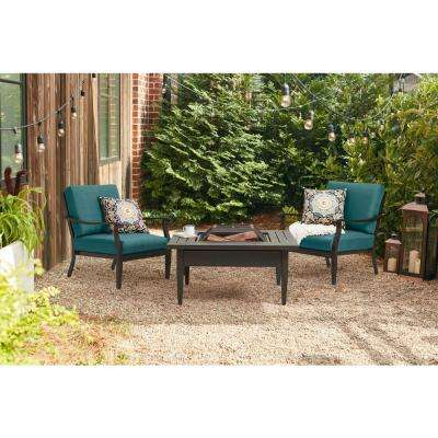 Riley Stationary Outdoor Lounge Chair with Charleston Cushions (2-Pack)